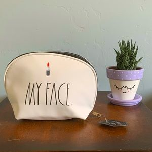 Rae Dunn MY FACE 💄 Cosmetic Pouch NWT
